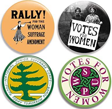 Amazon Com Votes For Women Collection I Pinback Buttons Pins