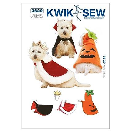 Amazon.com: Kwik Sew K3629 Pet Costumes Sewing Pattern, Size XS ...