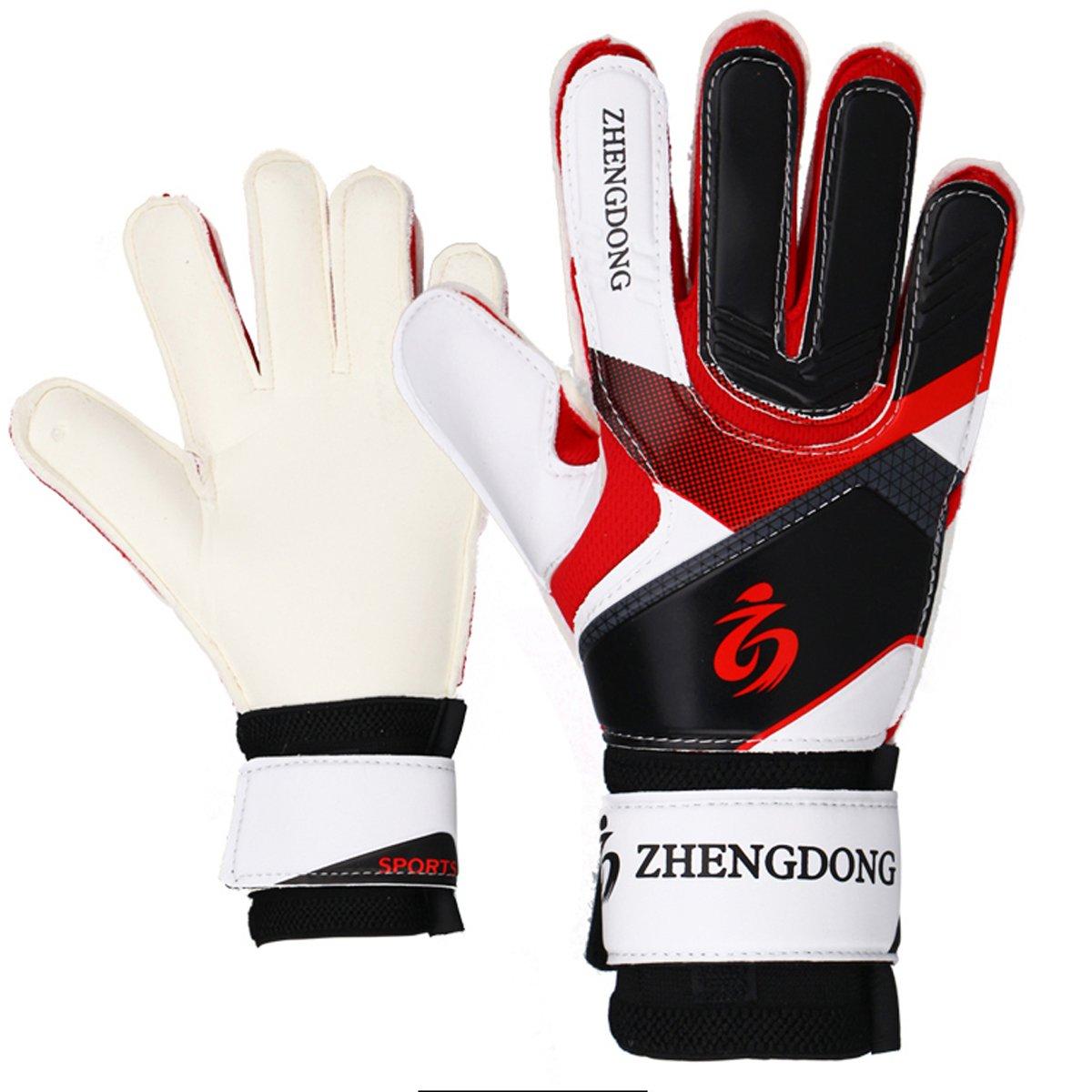 Youth Goalie Gloves ( # 8 # 9 )初心者用Goalies、指を保護、安全、快適、柔らかさと耐久性のすべての種類の天気 B07BGJCCMB 8|レッド レッド 8