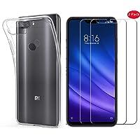 "Kit 1 Capa e 2 Películas para Xiaomi Mi 8 Lite de Tela 6.26"" Capinha Transparente Clear Ultra Fina e Película De Vidro Temperado - Danet"