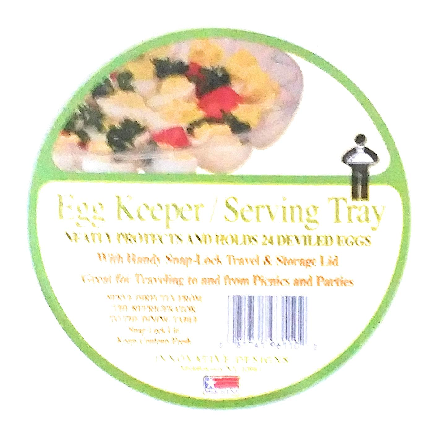 Deviled Egg Platter with Lid BUNZL INDIANAPOLIS CPDE9610F