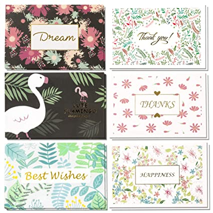 Tarjetas de agradecimiento a granel, 36 tarjetas de ...