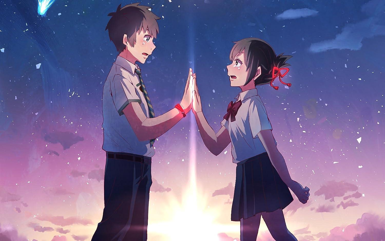 Athah Designs Anime Your Name Mitsuha Miyamizu Taki Tachibana Kimi No Na Wa 13 19 Inches Wall Poster Matte Finish Amazon In Home Kitchen