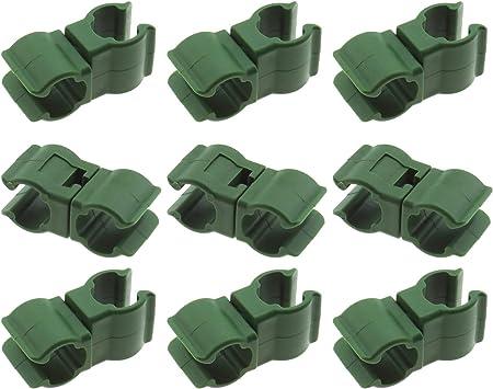 50 conectores de caña de enrejado para plantas, ratán escalada, accesorio para estacas de plantas para jardín, huerto, jaula de tomate (11 mm)