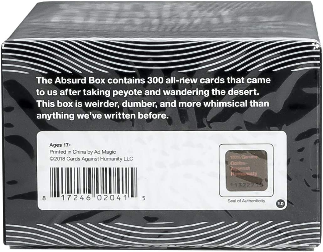 Cards Against Humanity: Absurd Box Expansion: Amazon.es: Bricolaje ...