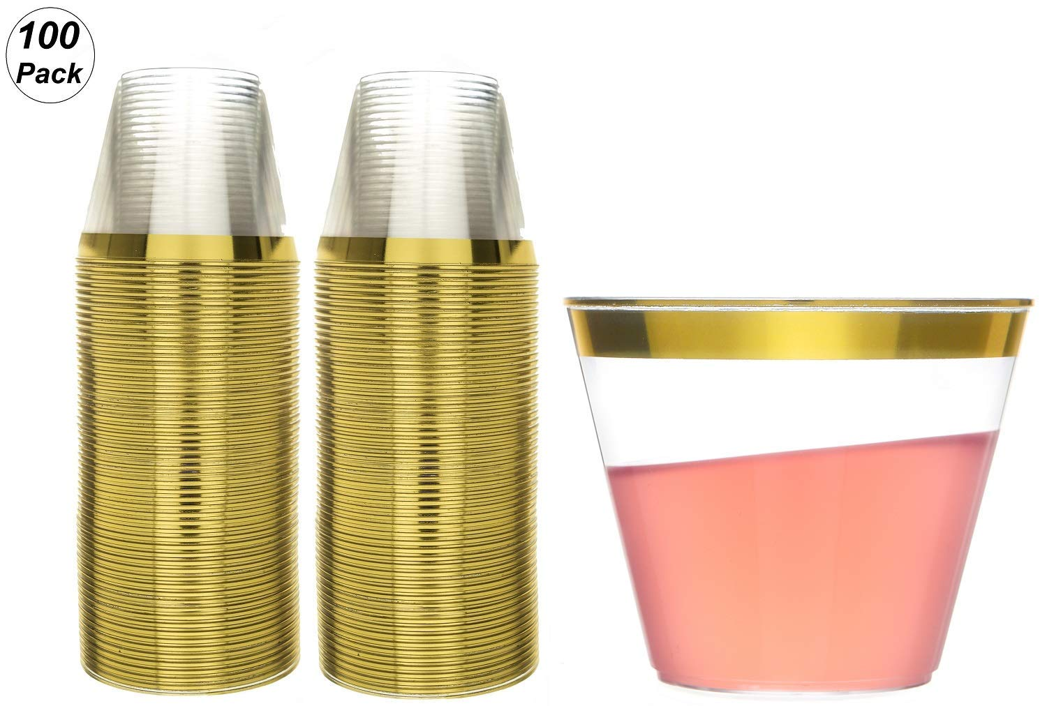 9 oz Party Cups Old Fashioned Tumblers by Oojami (100)