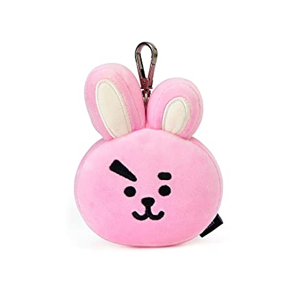 LINE FRIENDS BT21 Official Merchandise Cooky Character Doll Face Keychain Ring Cute Handbag Accessories