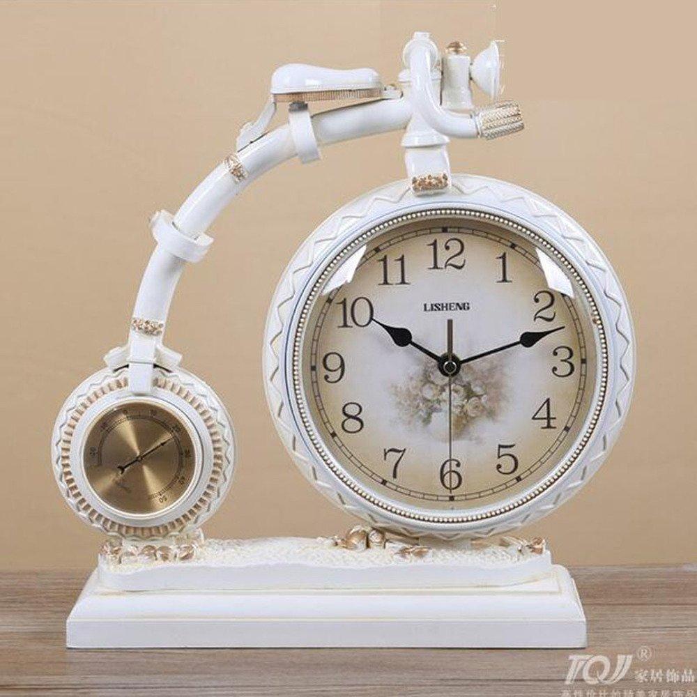 ヨーロッパのクリエイティブな振り子時計自転車テーブルクロックアートクロックミュート時計ファッション時計時計ギフト装飾品WL5221521 (Color : C) B07FDD1CFPC