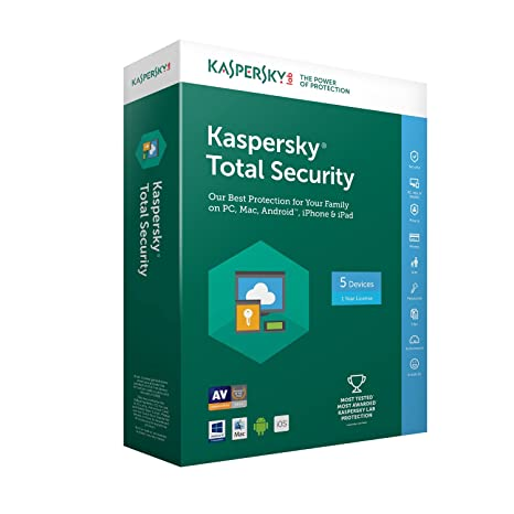 Kaspersky Total Security 2018   5 Postes   1 An   PC/Mac/Android/iOS   Téléchargement