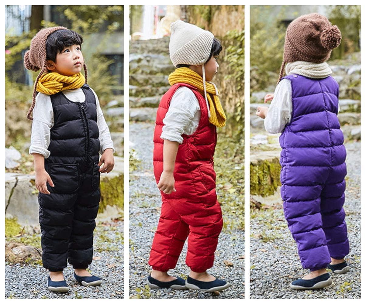 Beide Baby Boys Girls Unisex Snow Pants One Piece Winter Romper Jumpsuit Sleeveless