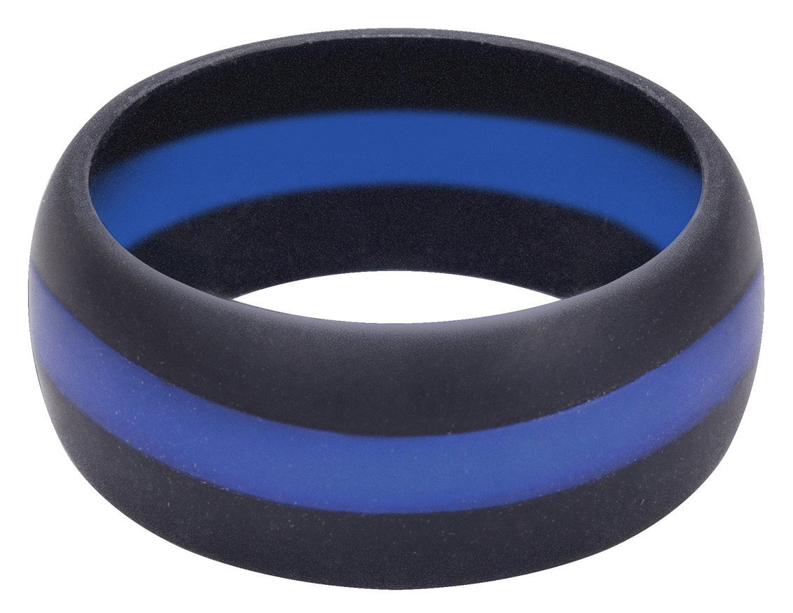 Rothco Thin Blue Line Silicone Ring - 10 800