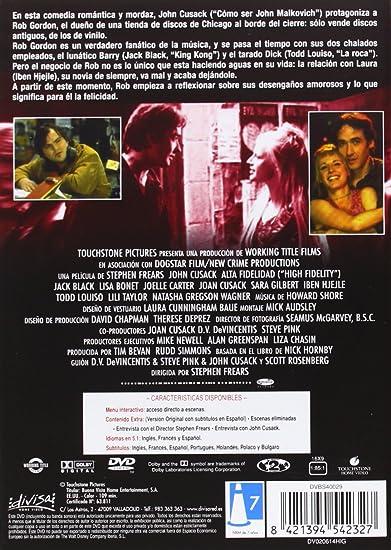 Alta fidelidad [DVD]: Amazon.es: John Cusack, Lisa Bonet ...