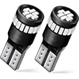 AUXITO Brilliant Red LED Bulbs 168 175 194 2825 W5W T10 24-SMD 3014 Chipsets for Car Dome Map Door Courtesy License Plate Lights (Pack of 2)