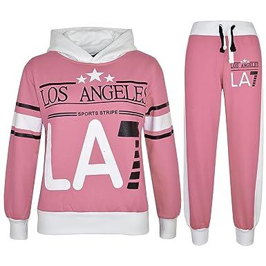 ec376ae913bbe A2Z 4 Kids® Enfants Filles Survêtement Los Angeles LA7 Imprimé - T.S LA7  Baby Pink