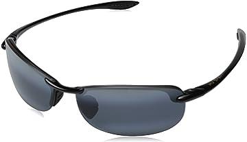 9cd7510194d Amazon.com  Maui Jim Mens Twin Falls 63 Sunglasses (417) Black Shiny ...