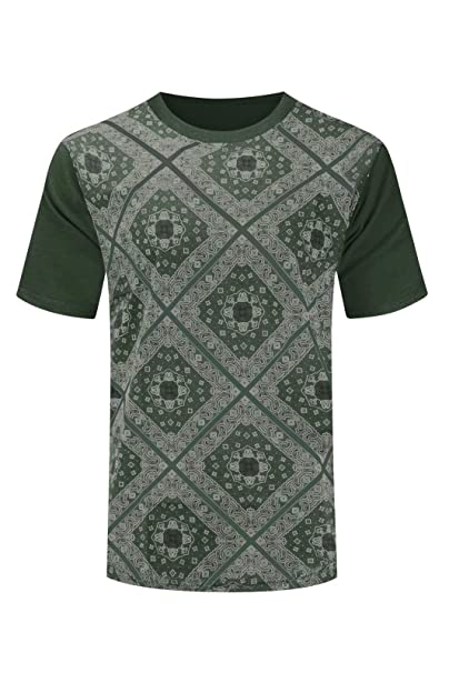 fc00ac31 Trending Apparel New Men Bandana Print Short Sleeve Shirt Short Sleeve  Shirts Sizes S-2XL