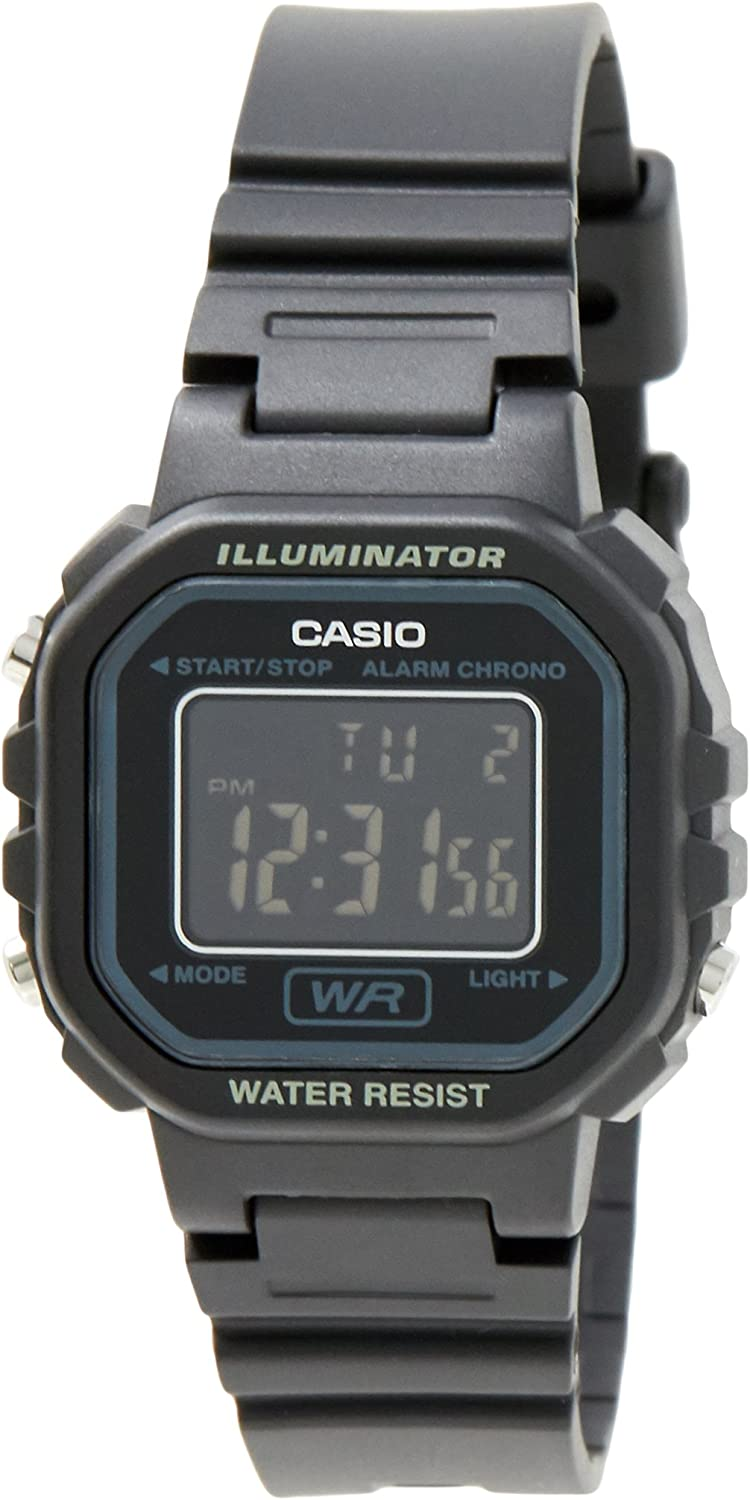 Casio #LA20WH-1B Women's Black Chronograph Alarm LCD Digital Watch