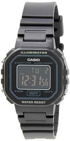 dcb38c8ddb3e Casio  LA20WH-1B Women s Black Chronograph Alarm LCD Digital Watch  Watch   Casio