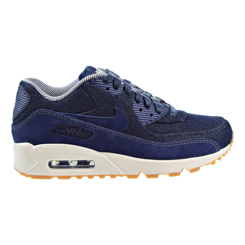 Nike Air Max 90 SE Womens Shoes Binary Blue/Binary Blue/Muslin 881105-401 (7.5 B(M) US)