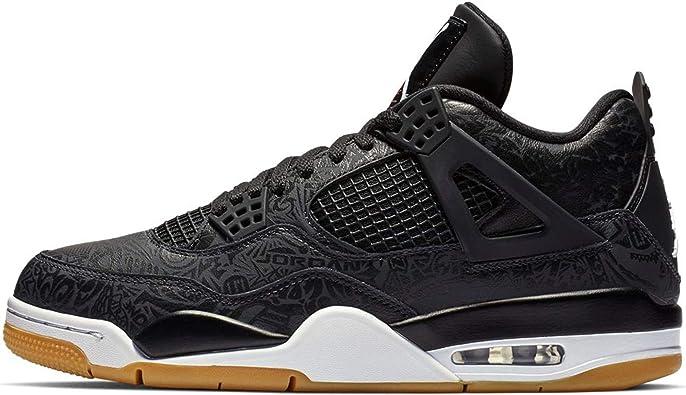 Marinero algo milicia  Amazon.com | Nike Air Jordan 4 Retro SE Mens Basketball Trainers CI1184  Sneakers Shoes (UK 11.5 US 12.5 EU 47, Black White Gum 001) | Basketball