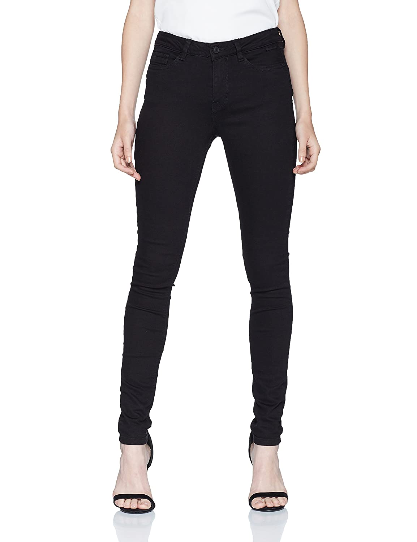 TOM TAILOR Denim Damen Skinny Jeans NELA Black Rinse 62058200971