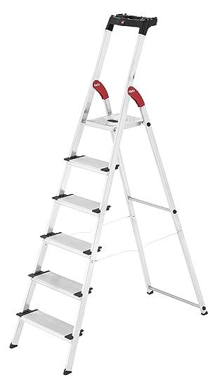 Hailo L80 Comfortline Alu Sicherheits Stehleiter 6 Xxl Stufen