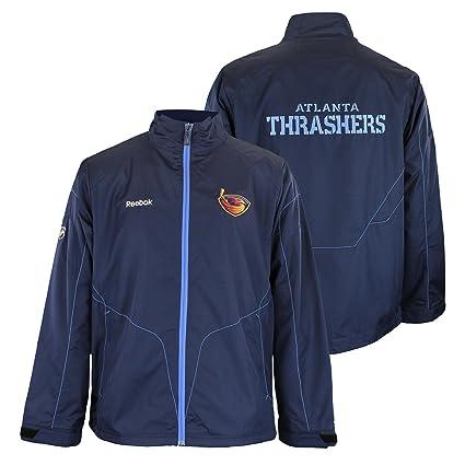 f99542453557 Reebok Atlanta Thrashers NHL Mens Center Ice Vintage Full Zip Lightweight  Jacket