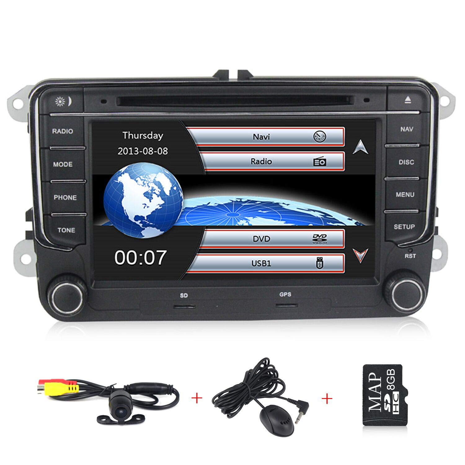 HD 7 inch Car Stereo GPS DVD Navi 2 Din for VW Jetta Passat Golf Beetle Caddy Tiguan Scirocco Octavia Altea Touran Amarok Car Radio in-Dash DVD