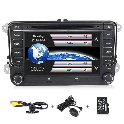 HD 7 inch Car Stereo GPS DVD Navi 2 Din for VW Jetta Pat Golf Beetle Vw Jetta Wiring Harness Settlement on