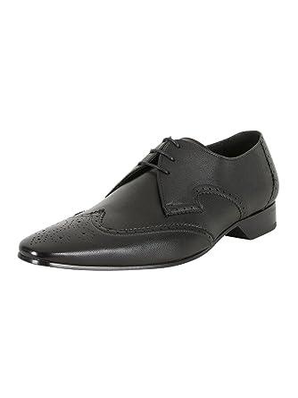 Jeffery West Hombre Zapatos Escoba, Negro, 41