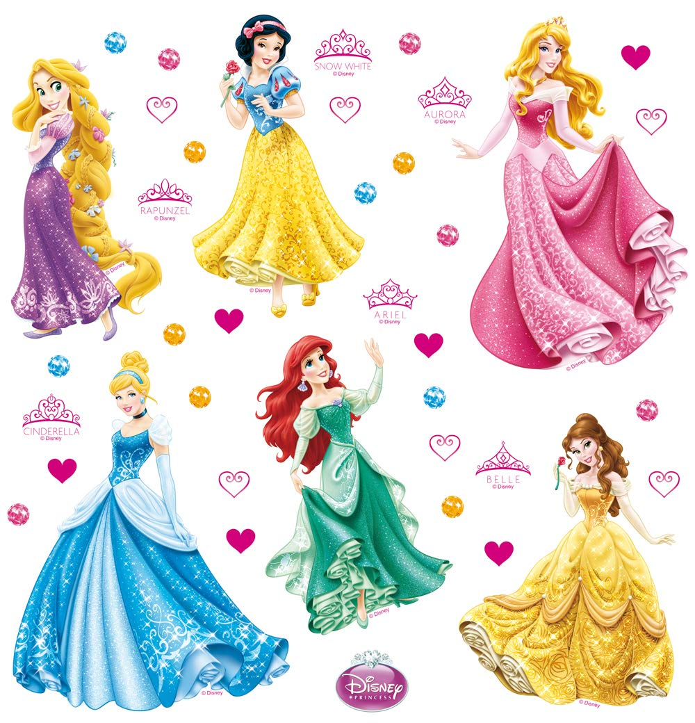 AG Design - Wall Sticker Disney – Self Adhesive - Disney Princess – Wall Decal – 30x30 cm/12x12 inches, 1 Part – DKs 1080