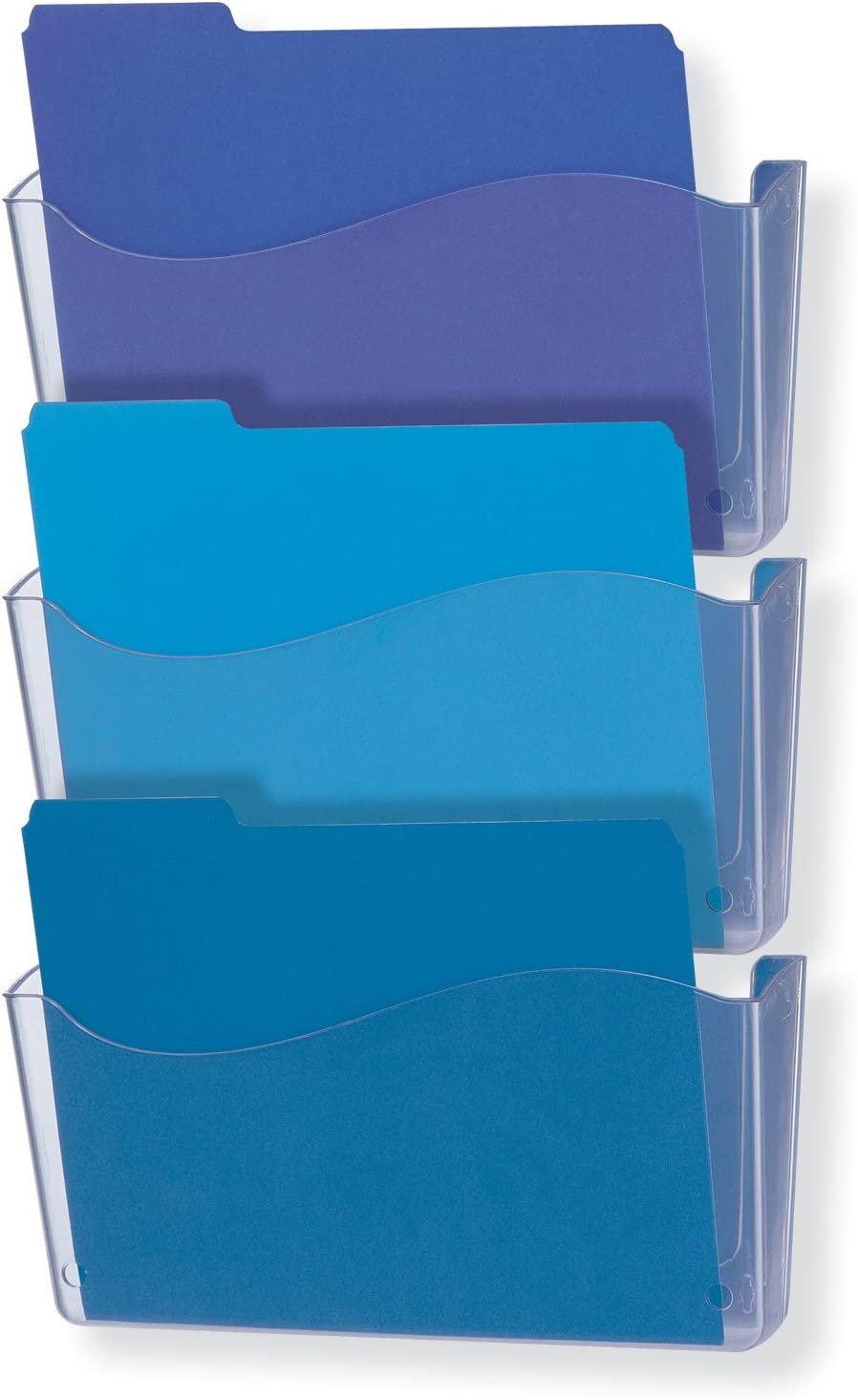 Officemate Unbreakable Wall File, Letter/A4 Size, Clear, 3 Pack (21654)