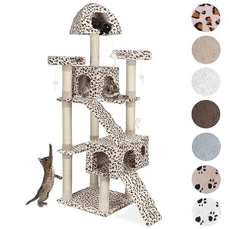 Happypet - Rascador y gimnasio para gatos en forma de árbol de sisal, de gran