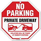 "Private Road No Thru Traffic Sign 12/"" x 18/"" Aluminum Metal Road Street #34"