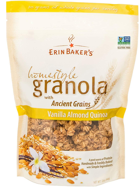 Vanilla Almond Quinoa, Gluten-Free, Ancient Grains, Vegan, Non-GMO, Cereal, 12-ounce bag (4 Bags) by Ballantine (MM)