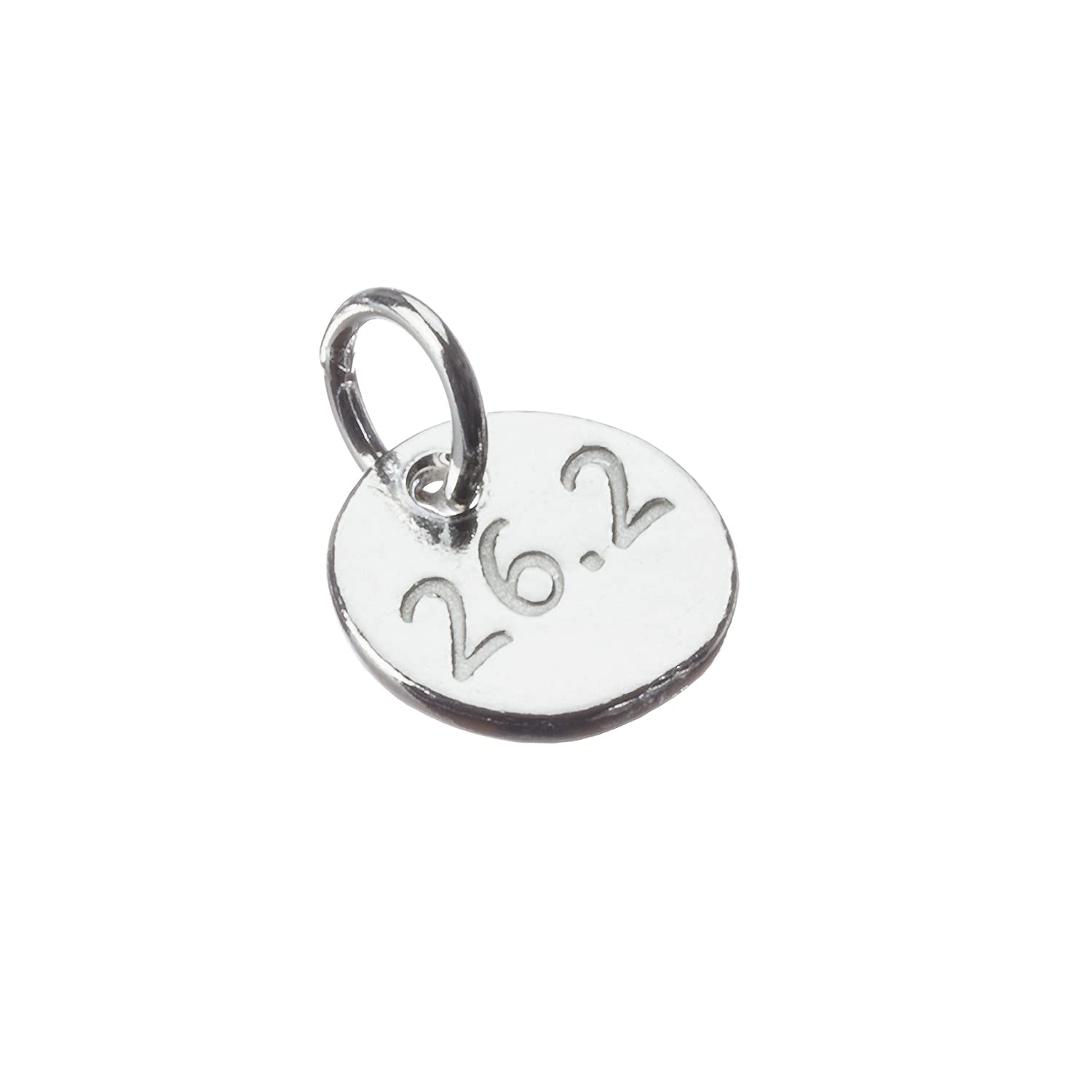 Running Jewelry, One TINY 26.2 sterling silver running charm.