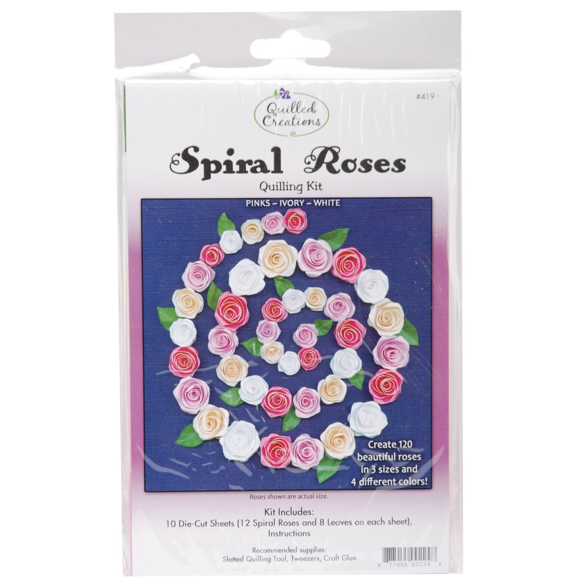 Quilling Kit, Spiral Roses Notions - In Network Q419