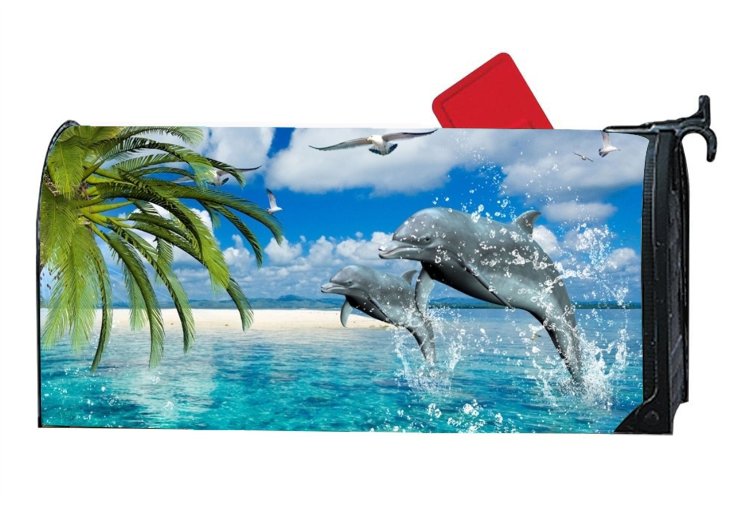 KSLIDS Fashion Mailbox Makeover Dolphin Mailbox Covers Garden,Yard,Outdoor Magnetic