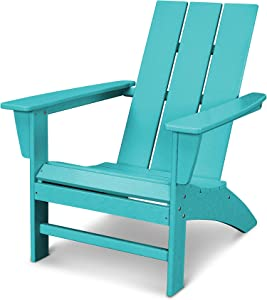 POLYWOOD AD420AR Modern Adirondack Chair, Aruba