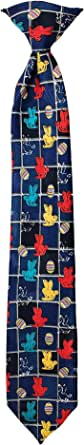 Boys' Easter Bunnies and Eggs Grid 14 inch. Clip-On Neck Tie - Navy Blue