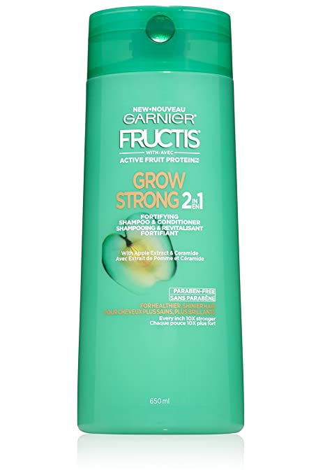 Garnier Fructis Grow Strong 2-in-1 Shampoo and Conditioner, 22 fl. oz.