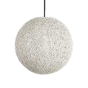 Modern Black Lattice Wicker Rattan Globe Ball Style Techo ...