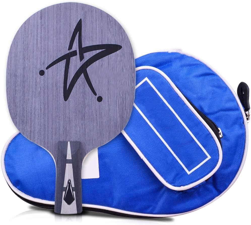 RENYAFEI Sets De Raquetas De Tenis De Mesa Placa Inferior De Madera Maciza De 7 Capas para Niños Y Adultos, Equipamiento Deportivo para Juegos De Interior Y Exterior,Straight