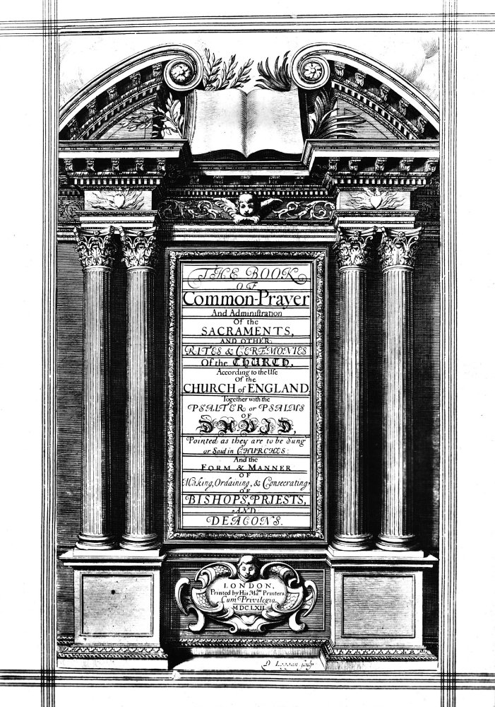 18 x 24 Book Of Common Prayer Ntitle Page Of The First Edition Of The Final Text Of The Book Of Common Prayer London 1662 Engraved By David Loggan Poster Print by
