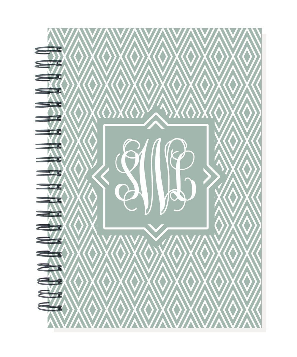 start any month 2019 24 month monogram monthly planner calendar notebook choose color