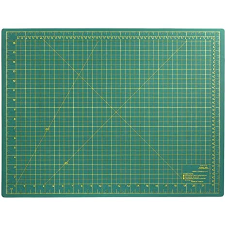 Diy Craft Engineering Self Healing Cutting Mat Double Sided Green 18x24