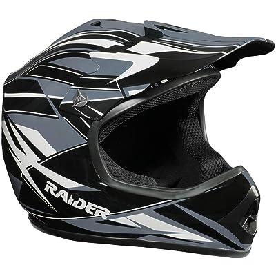Raider GX3 Unisex-Child MX Off-Road Helmet (Black/Silver, Youth Small): Automotive