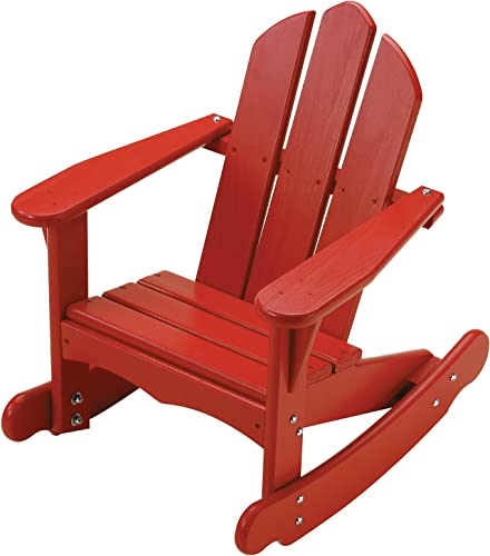 Little Colorado Personalized Child s Adirondack Rocking Chair- Red