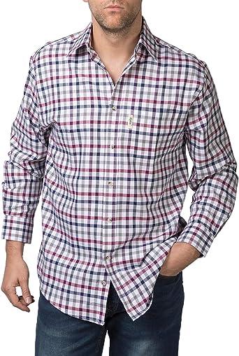 Rydale - Camisa, diseño de cuadros, estilo Country, para hombre Otley Wine L: Amazon.es: Ropa y accesorios