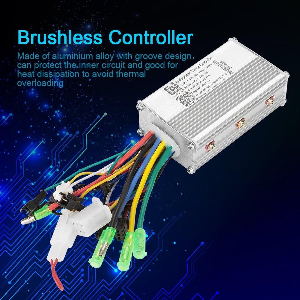Controlador Brushless 36V / 48V 350W Controlador de Motor ...